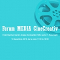 Invitație la Forum MEDIA CineCreativ