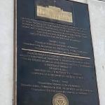 Placa memorială conținând mesajul președintelui Donald Trump la împlinirea a 30 de ani de la izbucnirea Revoluției din decembrie 1989